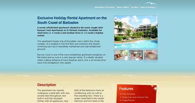 Barbados Holiday Rental Apartment