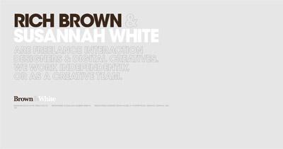 Brown & White Creative