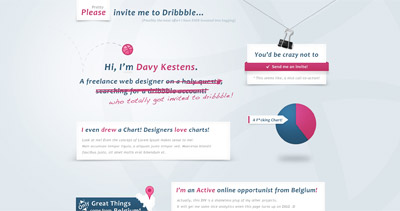Please Invite Me To Dribbble…