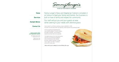 sonny langer one page website award. Black Bedroom Furniture Sets. Home Design Ideas