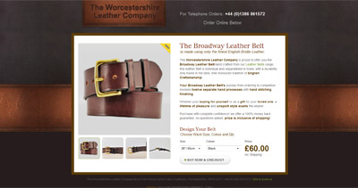 The Broadway Leather Belt