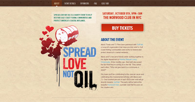 Spread Love Not Oil
