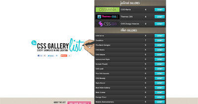 The CSS Gallery List