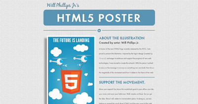 HTML5 Poster