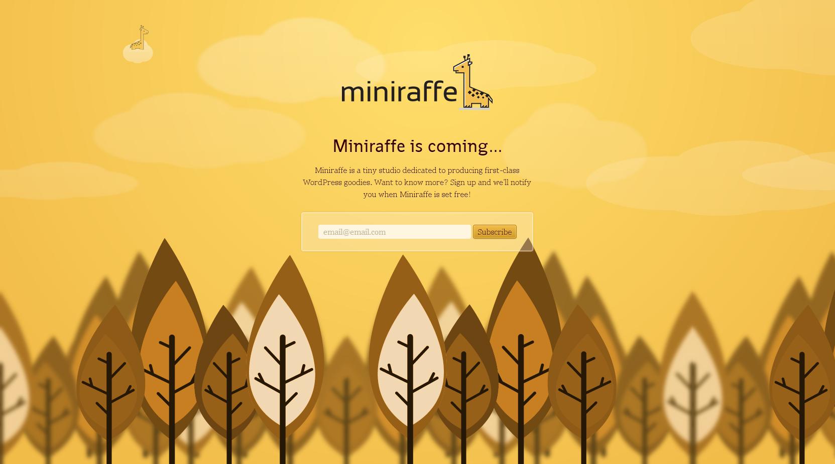 Miniraffe Big Screenshot