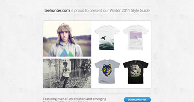 TeeHunter Winter 2011 Style Guide