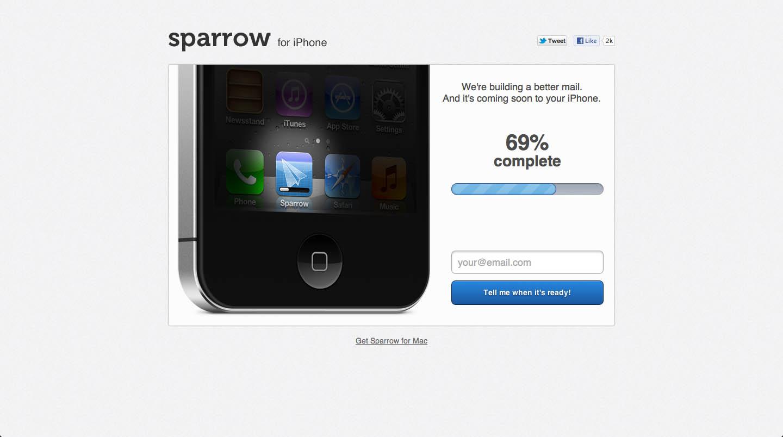 Sparrow for iPhone Big Screenshot