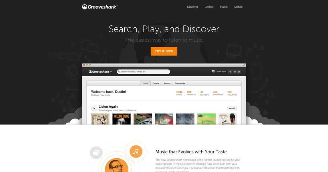 New Grooveshark Big Screenshot