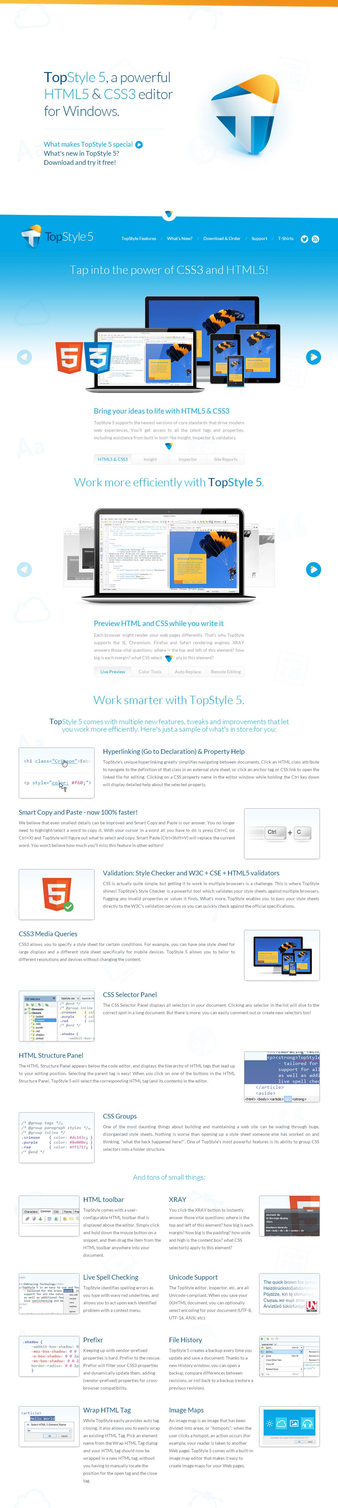 TopStyle 5 – HTML5 & CSS3 Editor Big Screenshot
