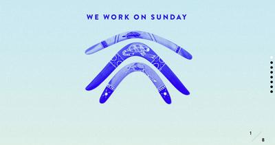 We work on Sunday