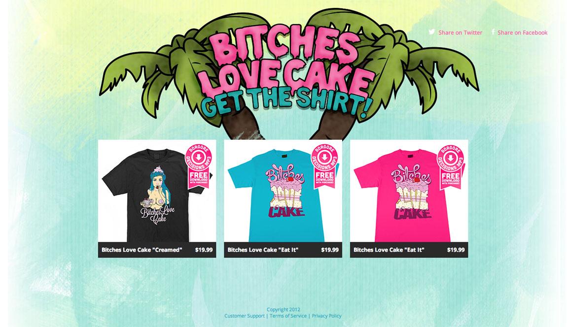 Bitches love cake Big Screenshot