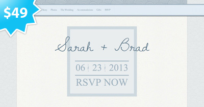 Something Blue Wedding RSVP