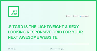 fitgrd - the sexy and lightweight css grid system