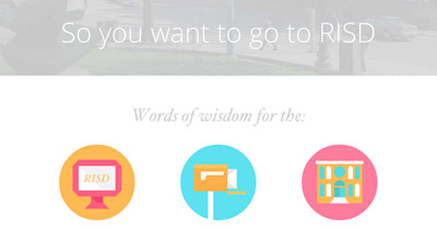 So You Want To Go To Risd