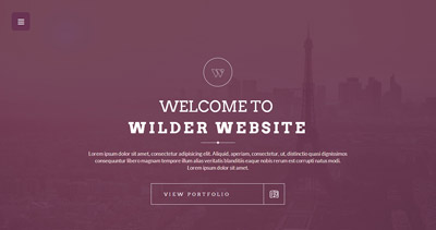 Wilder - Flat One Page Responsive WordPress Theme