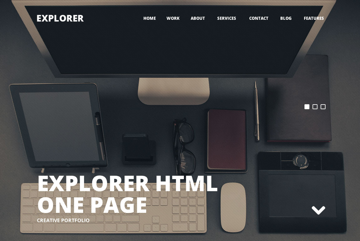 Explorer - One Page Template Review