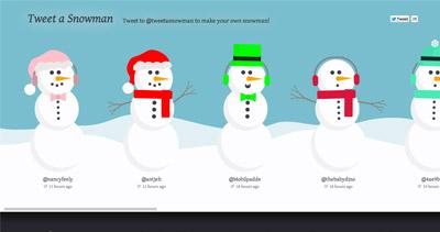 Tweet a Snowman