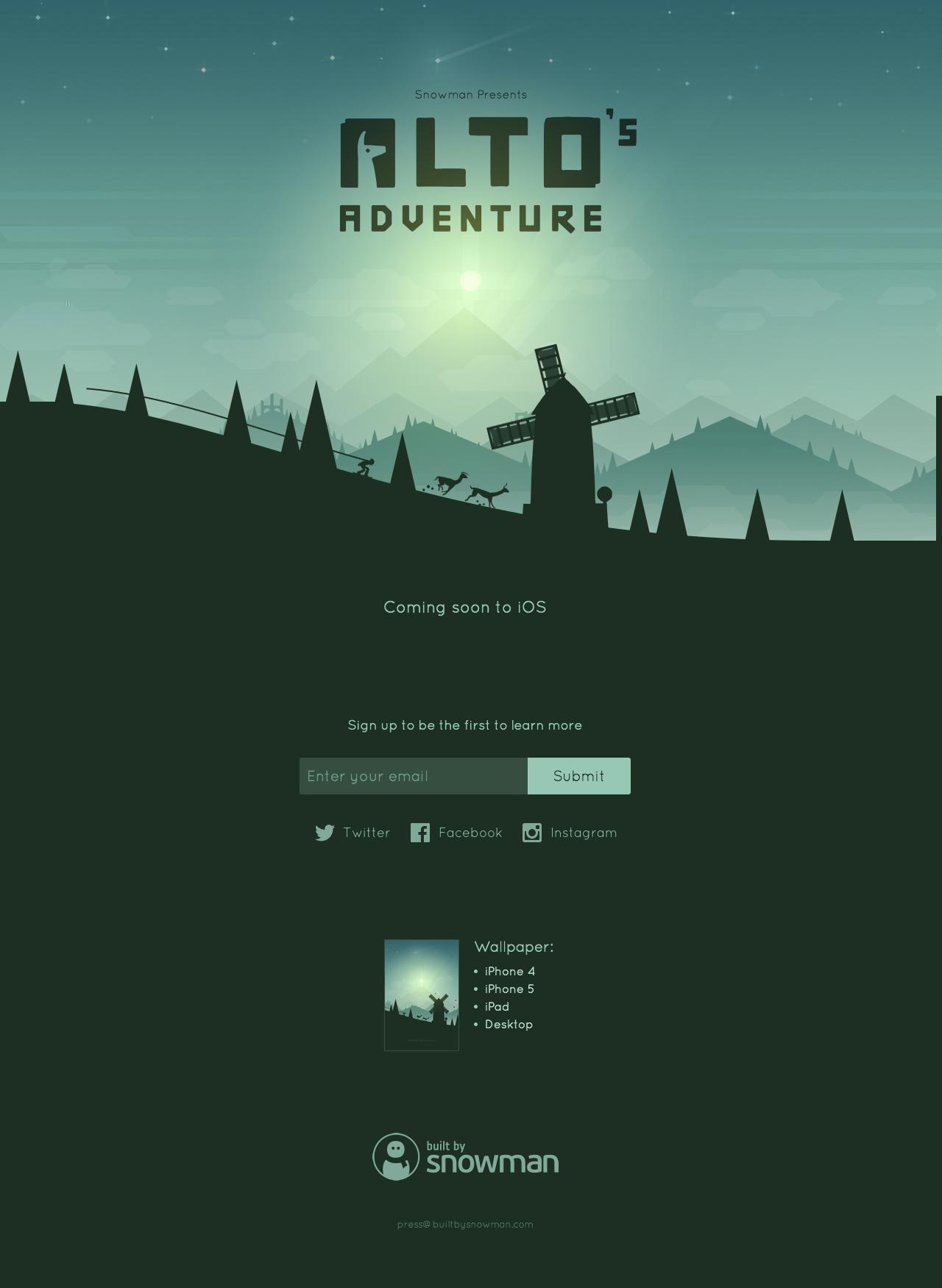 Alto's Adventure Big Screenshot