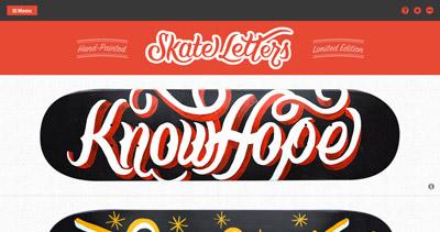 Skate Letters