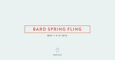 Bard ☼ Spring ☼ Fling
