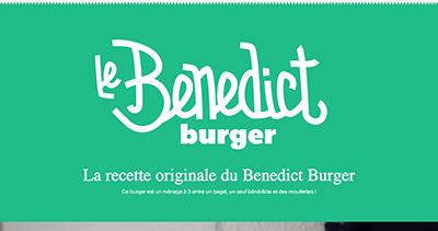 Benedict Burger recipe