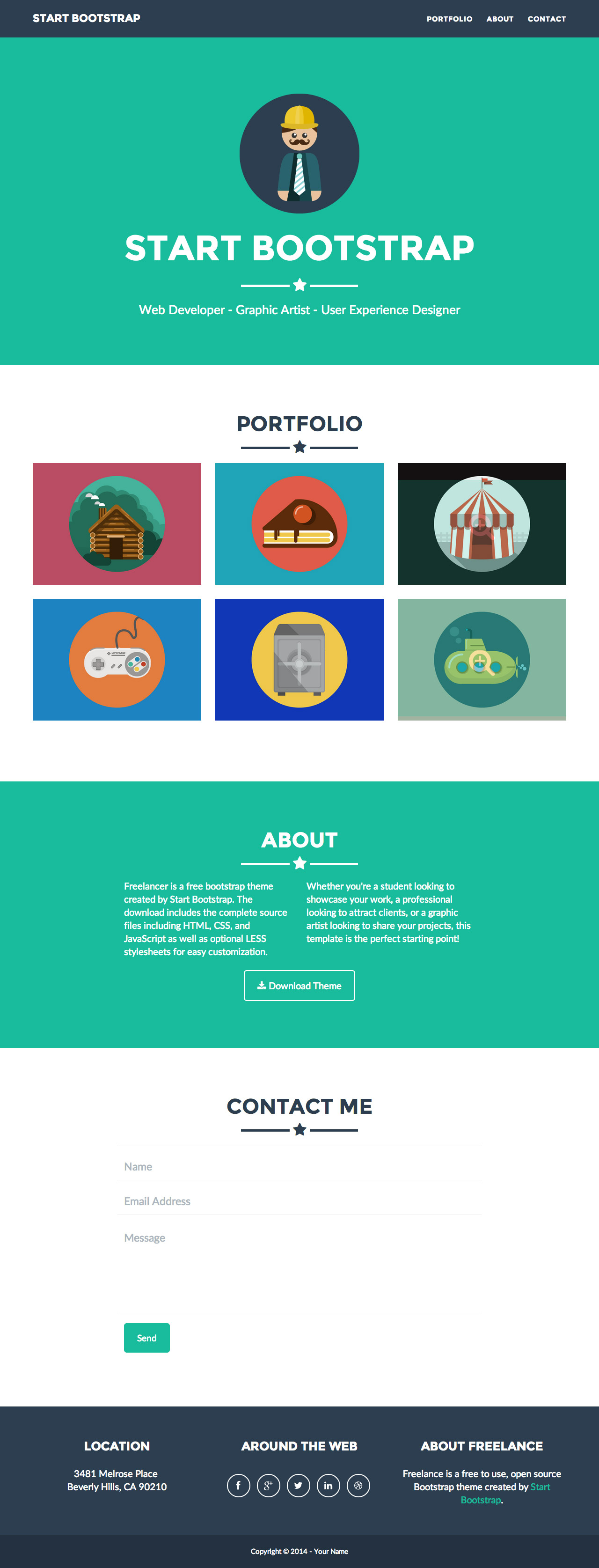 Freelancer free one page template download and review freelancer big screenshot pronofoot35fo Image collections