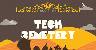 Tech Cemetery - DIY Pumpkin Templates