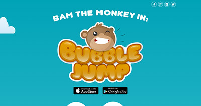 BubbleJump! Starring BAM The Monkey