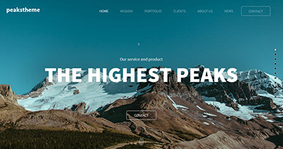 Peaks business parallax template