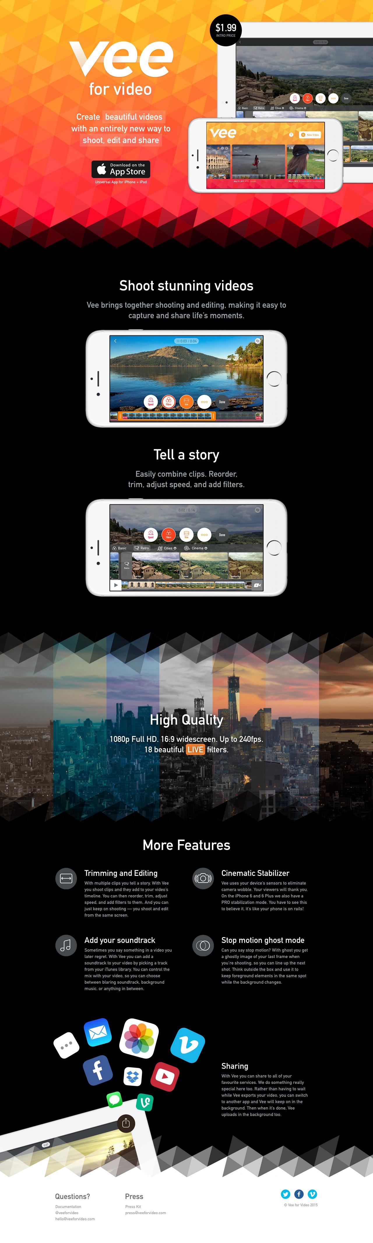 Vee for Video Big Screenshot