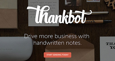 Thankbot - Handwritten Letter Service for Startups