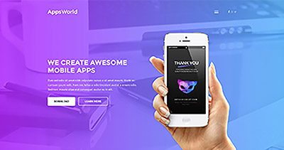 AppsWorld - Responsive App Landing Page WordPress Theme