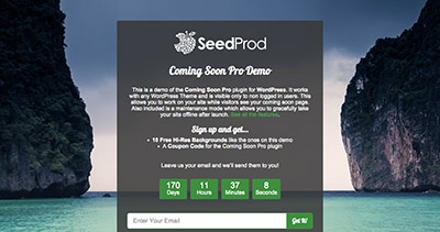 Coming Soon Pro by SeedProd