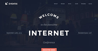 Eventix - Event Landing WordPress Theme