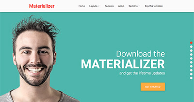 Materializer - Landing Page HTML5 template