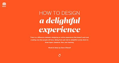 How to Design a Delightful Experience