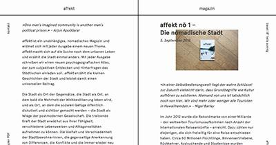 affekt – Stadtfragmente
