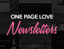 Get your One Page website inspiration straight to your inbox!