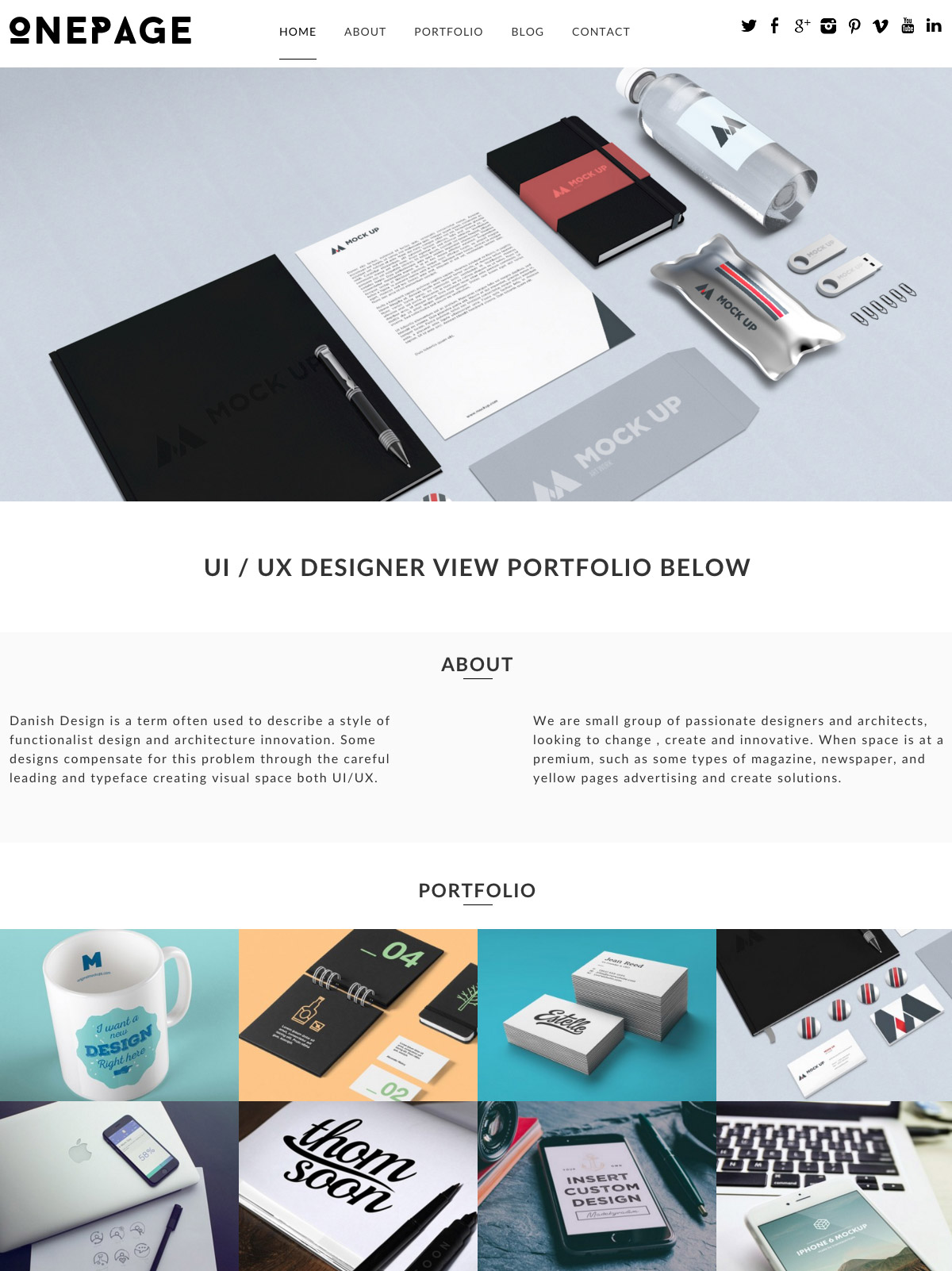 dessign-one-page-theme