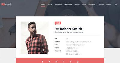 Material design Resume, CV & Portfolio