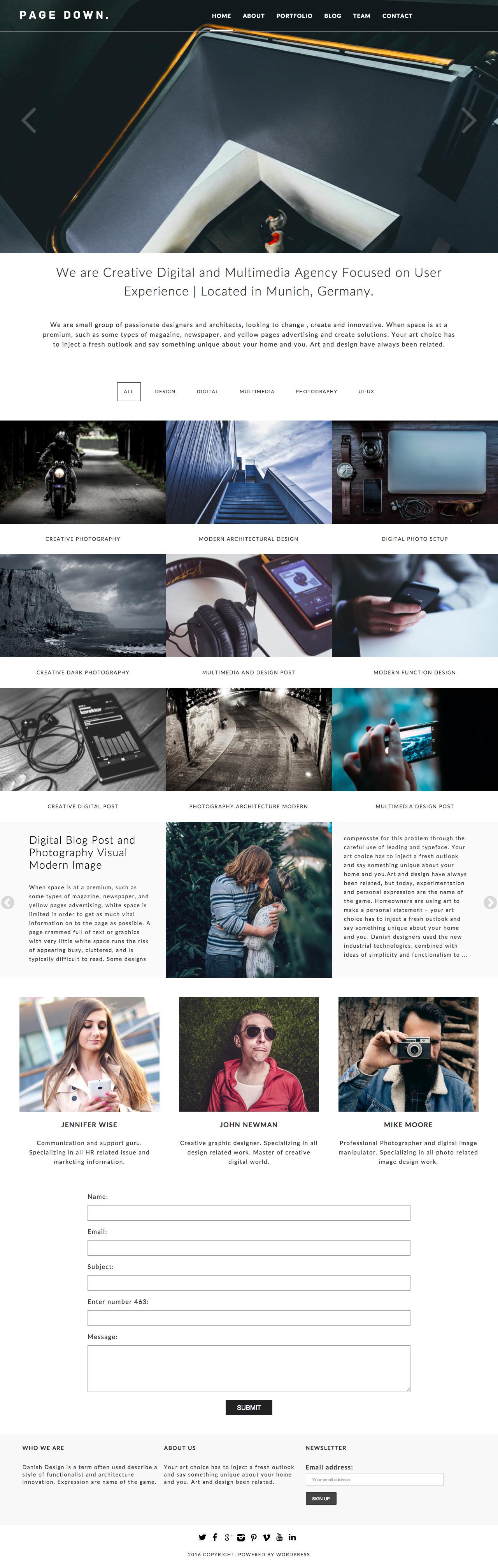 Page Down WordPress Theme Preview