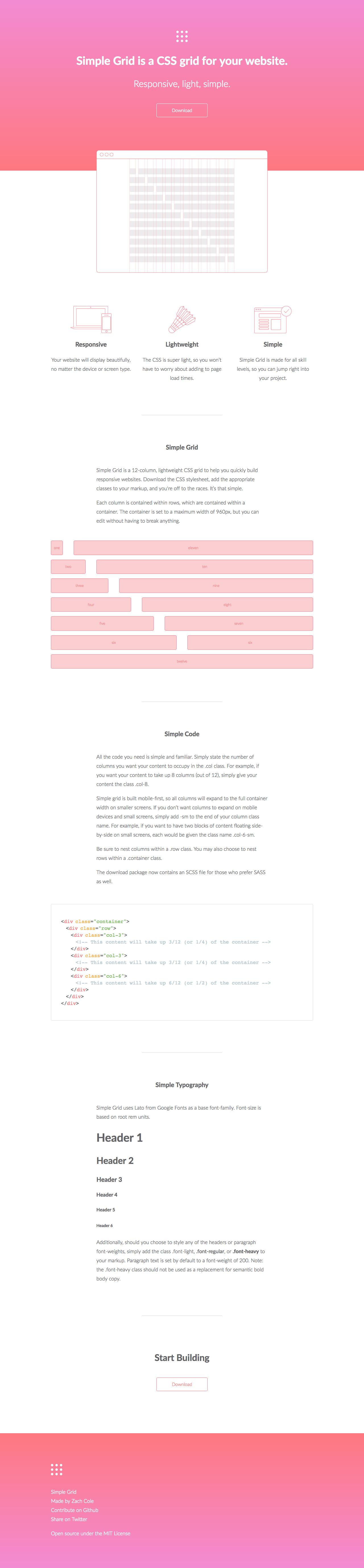 Simple Grid Big Screenshot