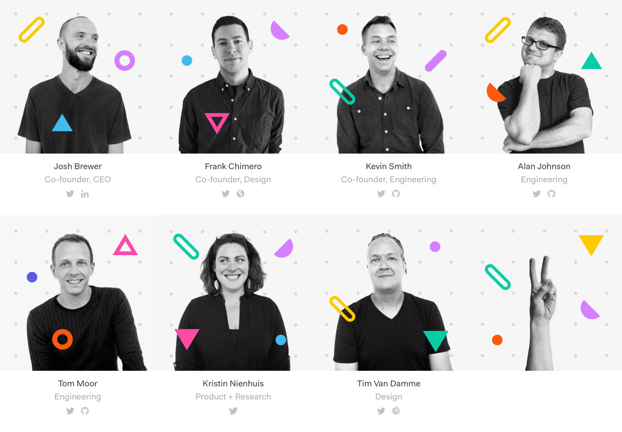 26 examples of awesome team sections in websites