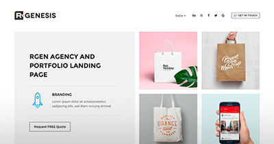 R.Gen - Agency & Portfolio Landing Page Collection
