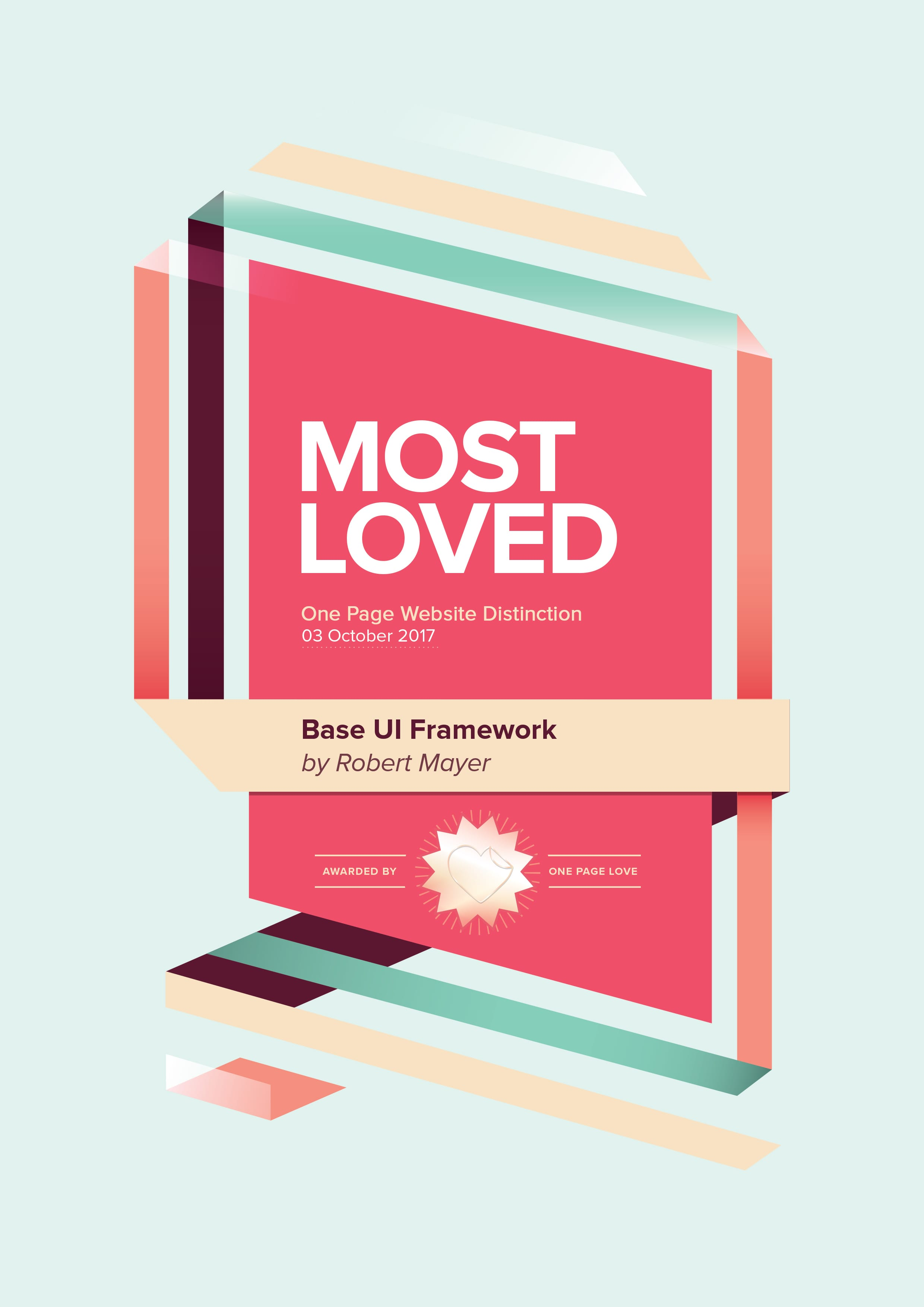One Page Love Most Loved Award Certificate