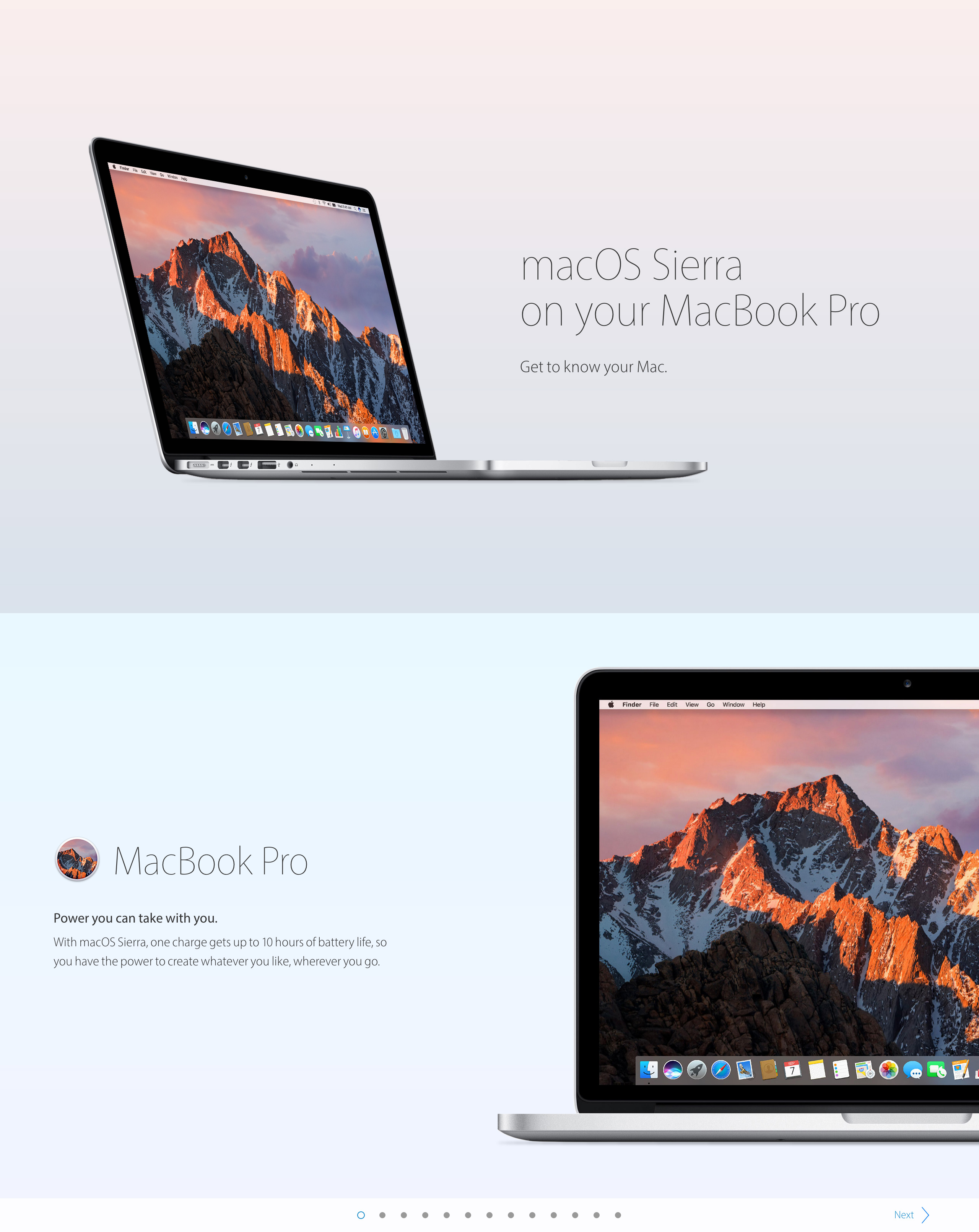 macOS Sierra on your MacBook Pro Big Screenshot
