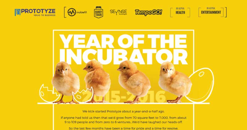 Prototyze. The Year of the Incubator.