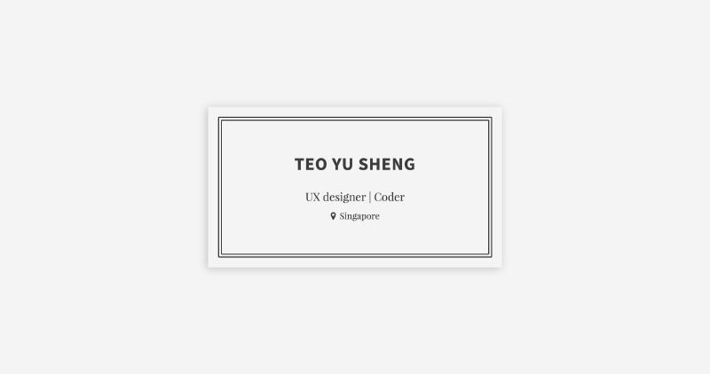 Teo Yu Sheng