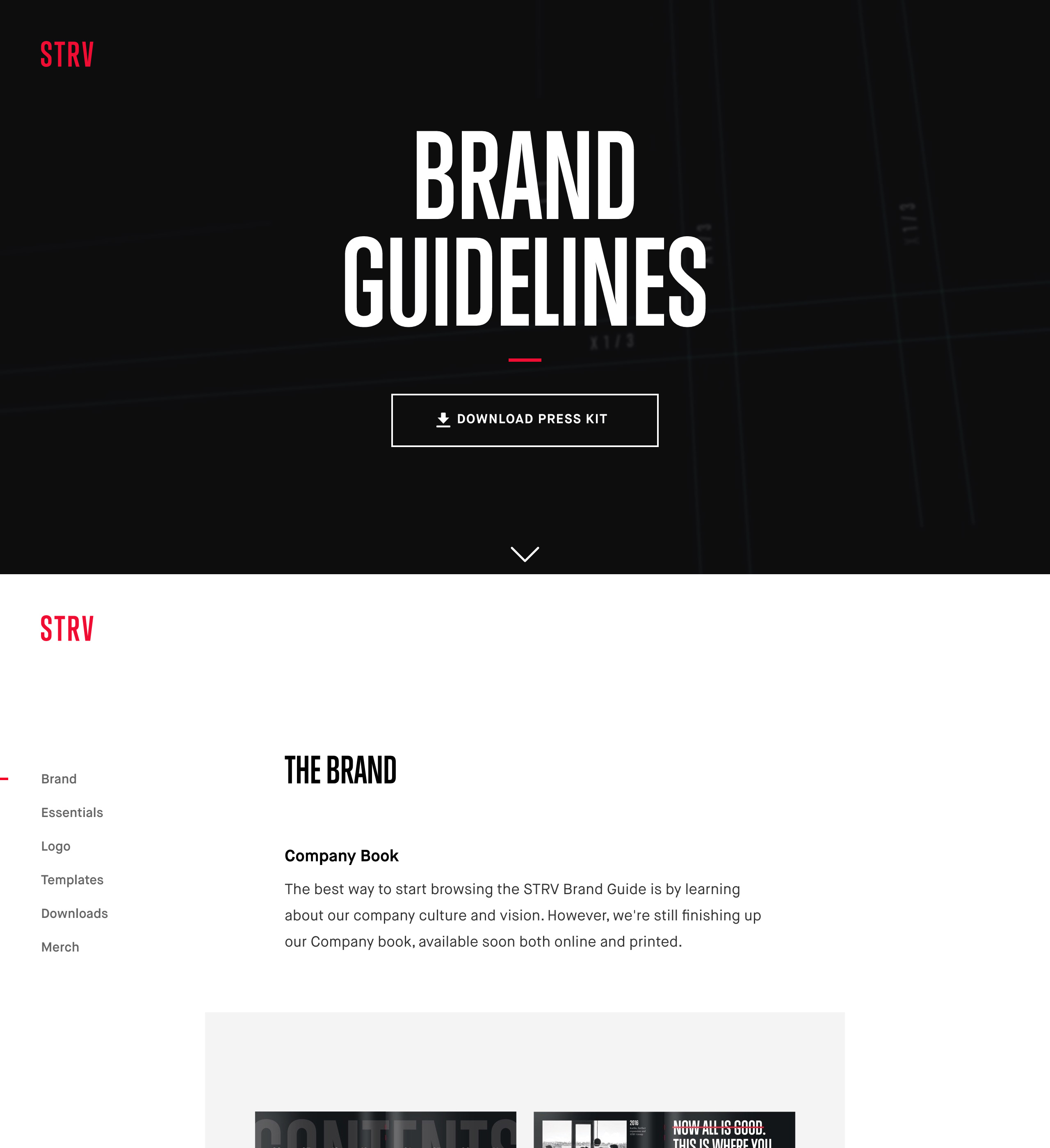 STRV Brand Guidelines  One Page