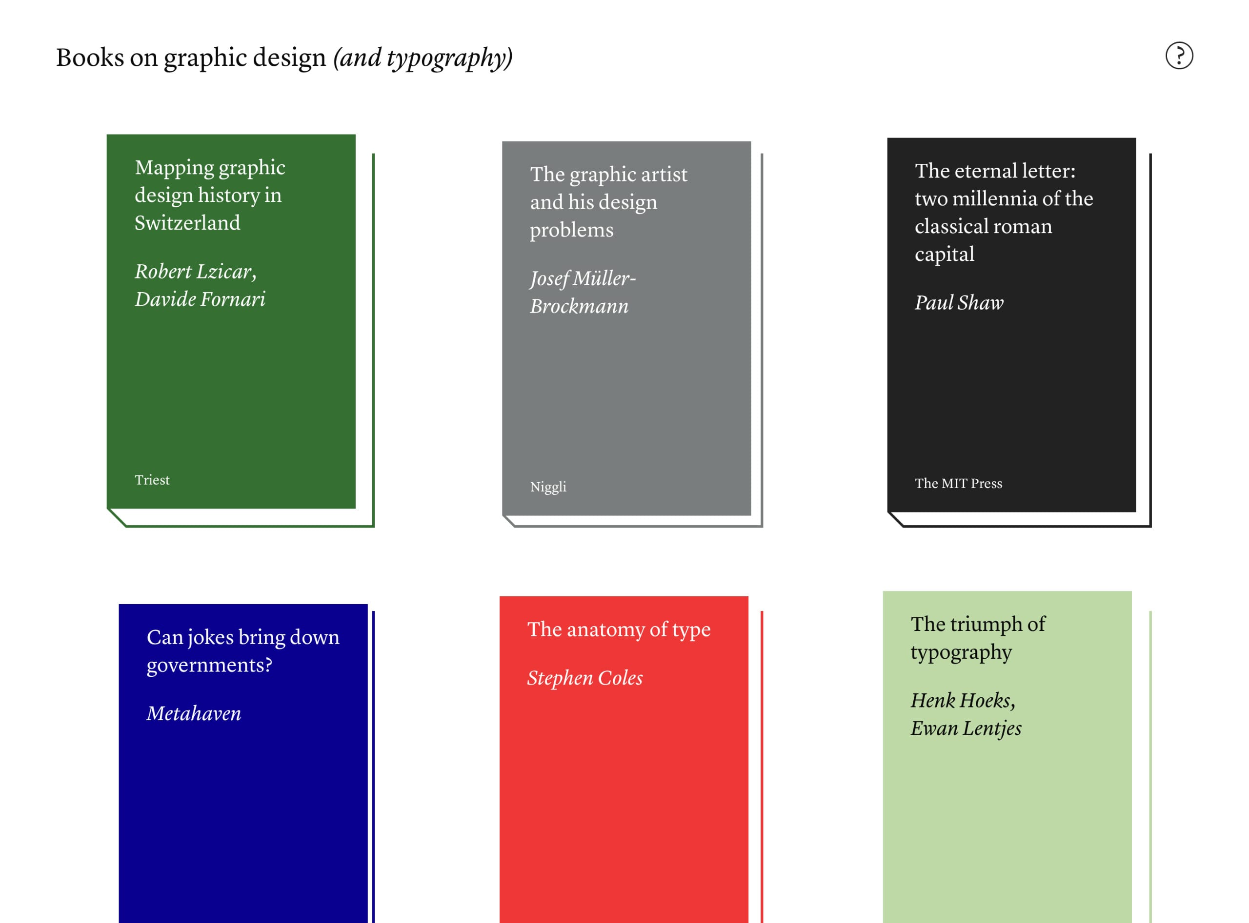 Books on graphic design Big Screenshot